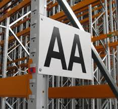 aisle markers warehouse signs rack shelf labels