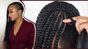 easiest type of diy hair braiding how to diy feed in braids on 4c natural hair easy method