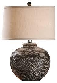 brilliant hammered ceramic pot table lamp transitional table lamps in hammered metal table lamp jpg