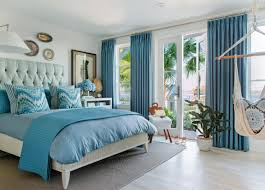 light blue bedroom walls what color curtains go with sky