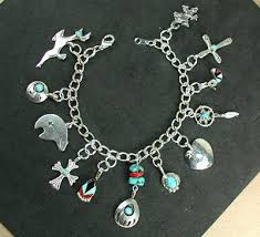 charm bracelet silver charms images Charm bracelet navajo and zuni charms horsekeeping sterling silver jpg