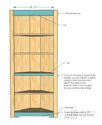 Corner Bookcase Plans Free 25 Build Corner Bookcase Corner Cabinet Bookcase Foter