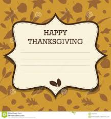 happy thanksgiving invitation stock photos image 33797123