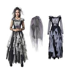 Womens Ghost Halloween Costumes Woman Gothic Ghost Bride Cosplay Costume Fancy Dress Party