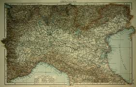 Northern Italy Map by Map Of Northern Italy 1893