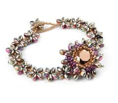 bead flower bracelet images Convertible pip bead flower bracelet tutorial the beading gem 39 s JPG