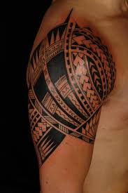 polynesian samoan maori tiki tattoos on sleeve in 2017 real photo