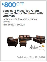 venezia leather sectional and ottoman costco black friday 2016 must have deals