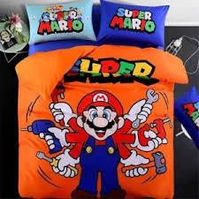 Mario Bedding Set Mario Bedding Set Duvet Cover Bedsheets Pillowcase Velvet