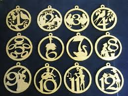 12 days of lasered wooden ornaments