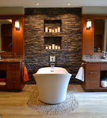 arizona river rock bathroom contemporary with dark wood drawers