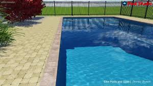 Deep Backyard Pool by Monolith 16 U0027 X 40 U0027 8 U0027 Deep Fiberglass Pool Automatic Pool Cover