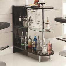 pub table with wine rack coaster bar units and bar tables 101063 contemporary black bar table
