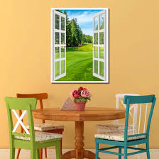Home Decorations Canada Vancouver Canada Golf Course View Picture Window Wall Art Home