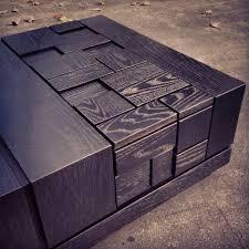abaci black 34 square coffee table two tone finish black