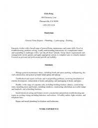 Maintenance Description For Resume Handyman Job Description For Resume Resume For Your Job Application