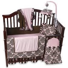 Pink And Brown Damask Crib Bedding Brown And Pink 9 Crib Bedding Set By Sweet Jojo Designs