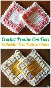 Crochet Home Decor Patterns Free Best 25 Crochet Potholders Ideas On Pinterest Crochet Pads