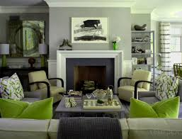 Greenliving Grey And Green Living Room