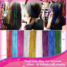 laser hair extensions 50pcs lot women fashion 16inch via tinsel laser hair