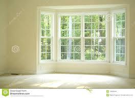 room window wonderful window room open and bright room with bay window stock