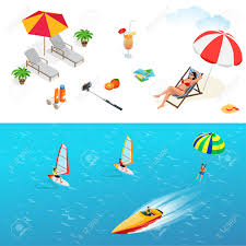 Beach Chair Umbrella Set Beach Icon Set In A Swimsuit On A Deck Chair Orange Juice