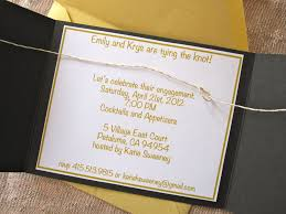wedding invitations knot how to make tying the knot engagement party invites six twists