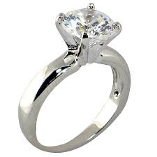 Engagement And Wedding Ring Sets by Amazon Com 3 47 Ct Round Shape Cubic Zirconia Cz Solitaire
