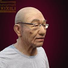 halloween mask shop silicon mask realistic old man promotion shop for promotional