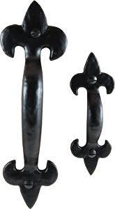 cast iron fleur de lis drawer handle from antique revelry