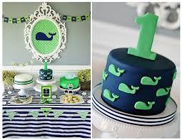 1st birthday boy themes maverick s 1st birthday a preppy whale party green color