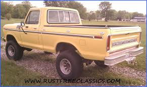 77 Ford F 150 Truck Bed - 1977 f150 swb ford ranger 4x4 short bed yellow