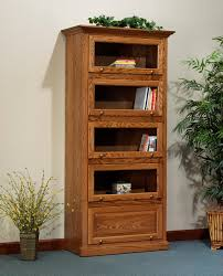 Lawyers Bookcase Amish Deluxe Barrister Bookcase