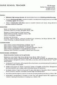 Substitute Teacher Resume Sample by Resume For Student Teaching Best Resume Collection
