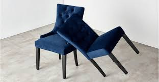 Uk Dining Chairs Set Of 2 Dining Chairs In Royal Blue Velvet Flynn Made