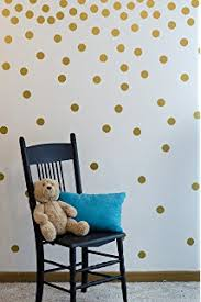 Amazoncom Vinyl Polka Dot Removable Wall Decals Gold  Home - Polka dot wall decals for kids rooms