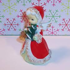lefton japan christmas angel bell with golden bells u0026 christmas