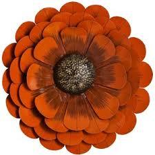 Orange Flower Metal Wall Decor Polyvore