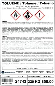 Ghs Safety Data Sheet Template Osha Mandatory Ghs Drum Labels For Worldwide Shipping Icc And