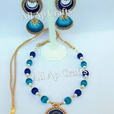 diy necklace set images Double coloured silk thread necklace set all ap crafts all ap jpg