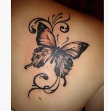 21 butterfly shoulder tattoos for