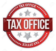 taxe bureaux timbre en caoutchouc marqué avec design illustration taxe sur les