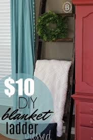 how to make a diy blanket ladder for just 10 life storage blog