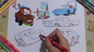 disney pixar cars coloring page lightning mcqueen sally carrera