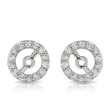 earring jackets diamond earring jackets 14k ben bridge jeweler