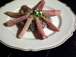 cuisiner des anguilles salade de lentilles à l anguille fumée cuisine de la mer