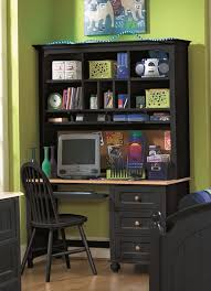 Landon Desk With Hutch Oak by Black Desk With Hutch Home Painting Ideas