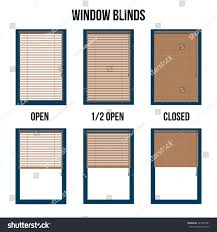 window blinds open closed form isolated stock vector 421877281