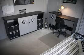White Bedroom Entertainment Center Handmade Raiders Desk U0026 Entertainment Center By Thinkjet Design