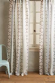 Tan And Blue Curtains Falling Circles Curtain Blue Tan Anthropologie 68 Home
